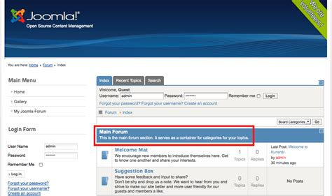 How To Create A Form In Joomla Module by Adding A Forum In Joomla Arvixe Blog