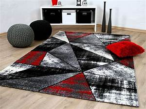 Teppich Rot Grau : designer teppich brilliant rot grau magic teppiche designerteppiche brilliant teppiche ~ Whattoseeinmadrid.com Haus und Dekorationen