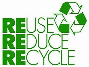 """Let's use the """"reduce, reuse, recycle"""" motto when writing ..."""