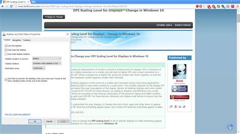 change dpi scaling level for displays in windows 10 windows 10 tutorials