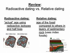 Difference Between Relative And Radioactive Dating  What