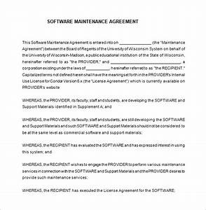 9 it support contract templates free word pdf With software support contract template