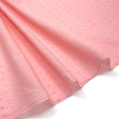 dotted swiss voile blush pink 100 cotton fabric