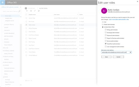 Office 365 Roles by More Data Access With Workload Specific Admin