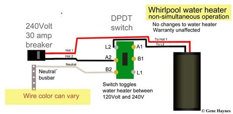 how to wire water heater with two switches