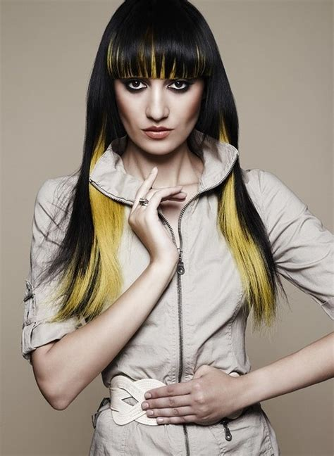 Black And Yellow Hair Color by 7 Best Images About Hair Color Ideas On Oscar