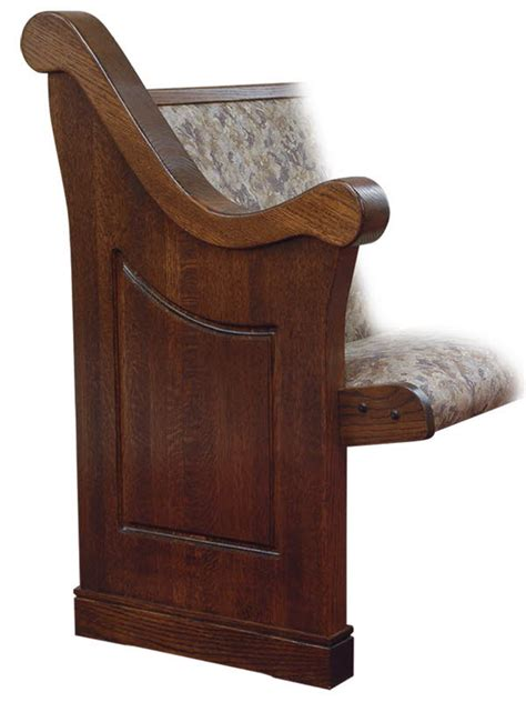 church pew with pew end styles designs