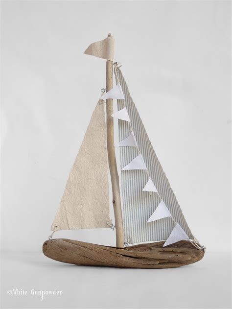 wooden sailboat wall decor diy driftwood sailboats white gunpowder
