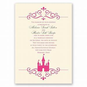 fairy tale castle invitation invitations by dawn With wedding invitation quotes fairytale
