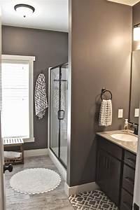 bathroom wall paint ideas Master Bath Wall Art { -- Faux wood ceramic tile. Walls ...