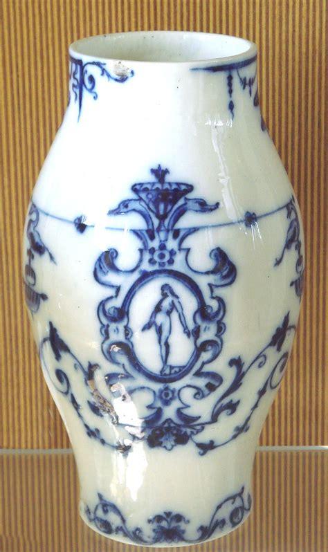 Porcelain Vase by Rouen Manufactory