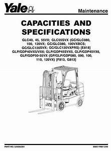 Yale Lpg Forklift Truck F813 Series  Gp080vx  Gp090vx  Gp100vx  Gp1