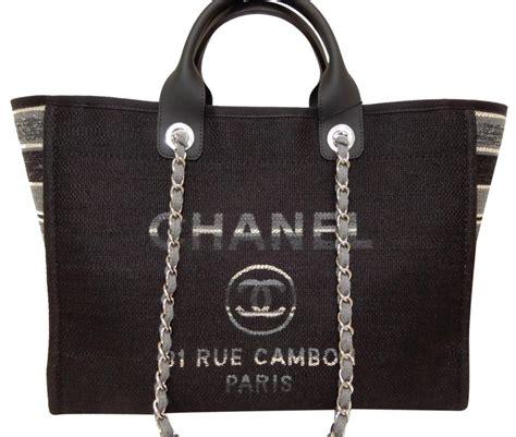 chanel canvas tote bags      tradesy