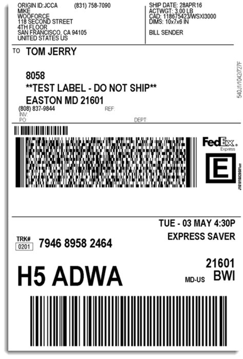 Fedex Label Template Word by Woocommerce Fedex Shipping Plugin With Print Label Xadapter