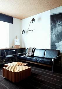 quels meubles industriels pour la demeure moderne With meuble salon noir et blanc 18 la deco de la maison objets en bois archzine fr