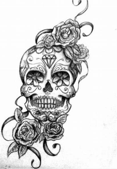 Tattoo Mexican Skull Flowers Designs Rose Awesome
