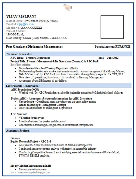simple resume format for freshers doc images