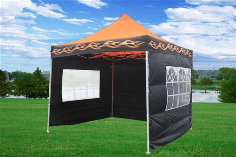 orange flame pop tent canopy