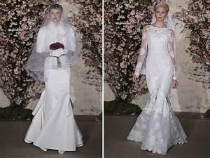 winter wedding dresses by oscar de la renta lace mermaid With oscar de la renta mermaid wedding dress