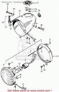 Honda Z50a Mini Trail 1968 Z50ak0 Usa Headlight