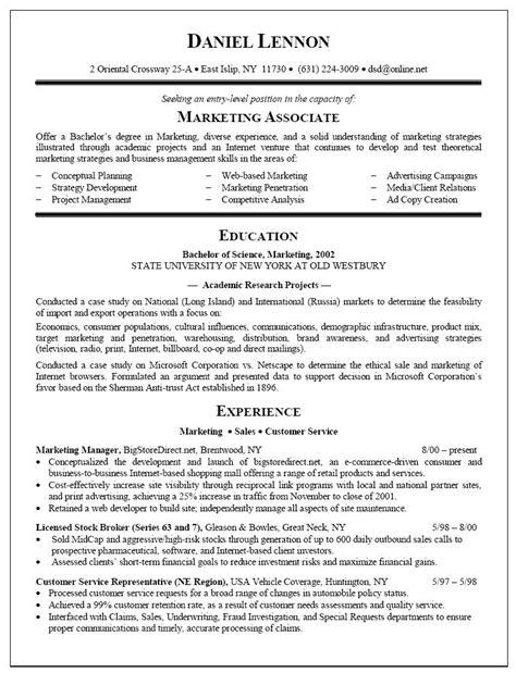 sample resume  fresh college graduate sample resume