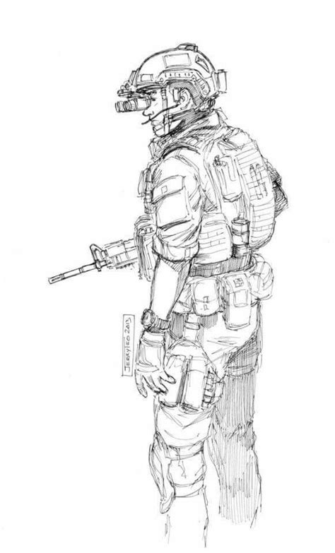 Pin by jsjazg on Military Sketches   Military drawings, Soldier drawing, Military art