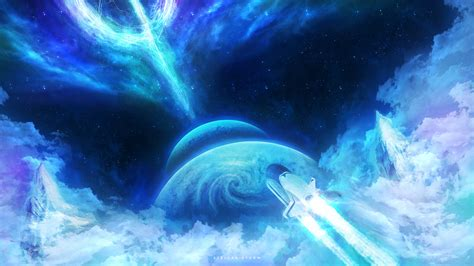 stellar storm hd wallpaper background image
