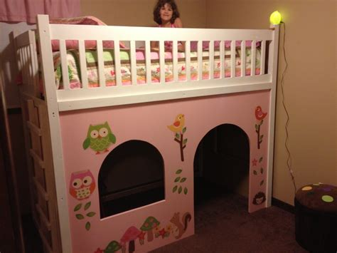 ana white loft bed playhouse diy projects
