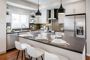 Cuisine idee deco cuisine blanche avec gris couleur idee for Idee deco cuisine avec idee cuisine deco