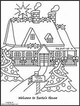 Coloring Workshop Pole North Santas Dock Colouring Boat Template Houses Santa Claus Clip Printable Xmas Sketch Elf Library Wallpaperfor sketch template