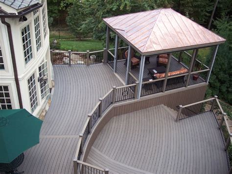 trex composite decking traditional deck other metro