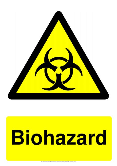 biohazard signs poster template