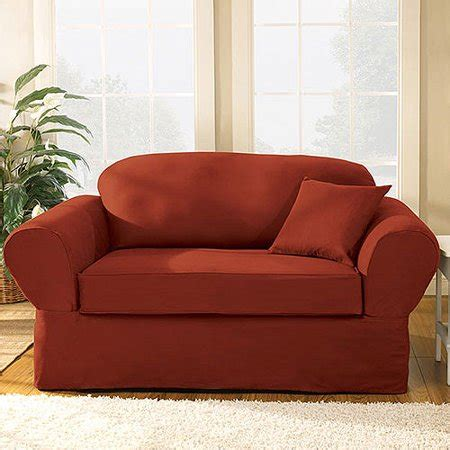 Loveseat Slipcovers Walmart by Sure Fit Twill Supreme Sofa Slipcovers Walmart