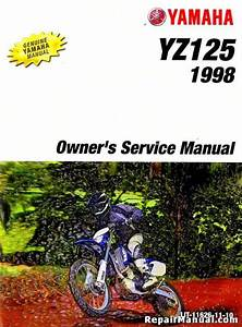 1998 Yamaha Yz125 Motorcycle Owners Service Manual