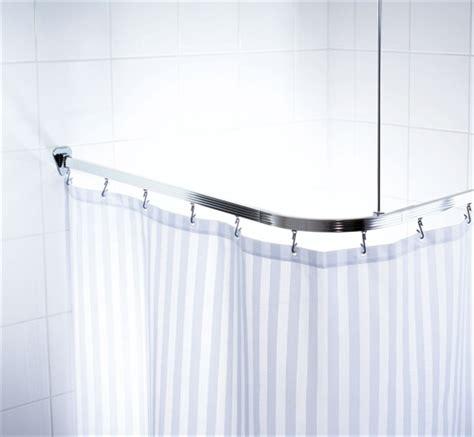 unitrack shower curtain rail silver