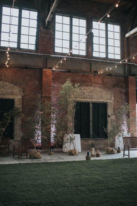 indoor garden wedding at thompson s point in portland