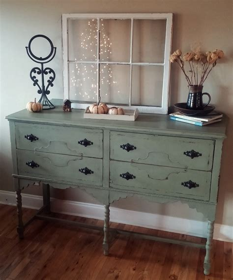 Shabby Chic Kitchen Decorating Ideas - chalk paint furniture finishing to improve your room appearance