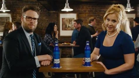 new bud light commercial total sorority move amy schumer and seth rogen fight the