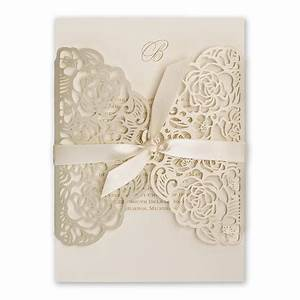 bed of roses laser cut invitation invitations by dawn With round laser cut wedding invitations
