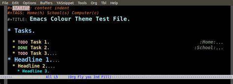 mode color org mode color theme screenshots