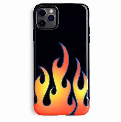 Flames Case Iphone Phone Chrome Cases Velvetcaviar