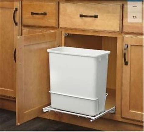 under sink garbage pull out plastic garbage bin rev a shelf 20 quart for pull out