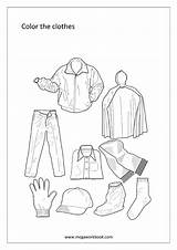Clothes Coloring Template Sheet sketch template