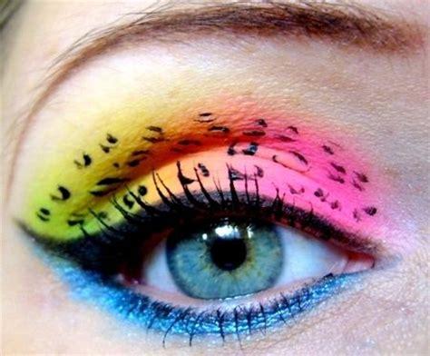 fabulous neon eye makeup ideas  women pretty designs