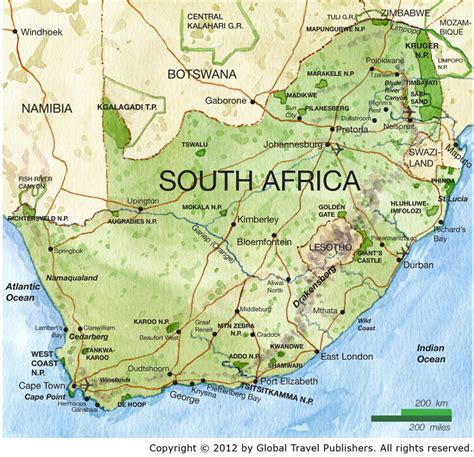map  south africa south africa maps mapsofnet
