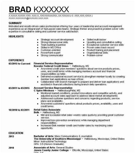 Financial Service Representative Resume by Financial Service Representative Objectives Resume