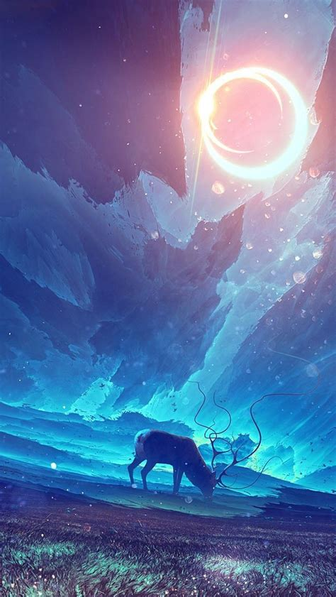 deer  dark world art iphone wallpaper iphone wallpapers