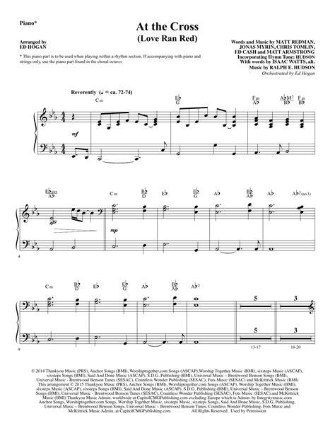 James corden, james you guys. At the Cross - Piano sheet music by Ed Hogan (Choral Instrumental Pak - 345052)