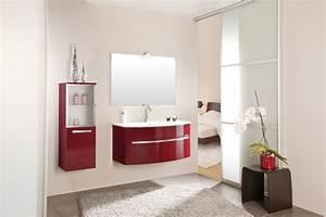 inspiration une salle de bains rouge inspiration bain With meuble de salle de bain hygena