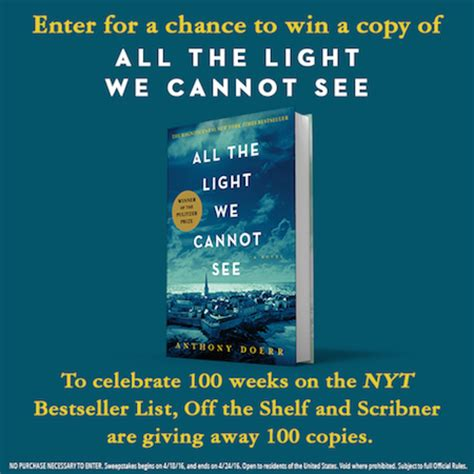 All The Light Cannot See Book Anthony Doerr